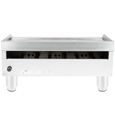 vollrath 40723 commercial thermostatic gas griddle back view