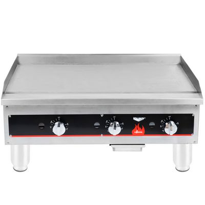vollrath 40723 commercial thermostatic gas griddle front view