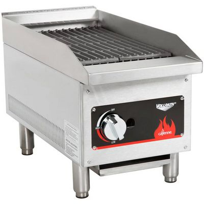 vollrath 40728 commercial gas charbroiler left side view
