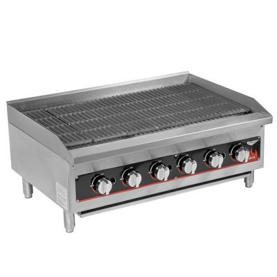 vollrath 407312 commercial gas charbroiler left side view