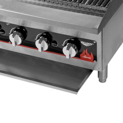 vollrath 407312 commercial gas charbroiler opened