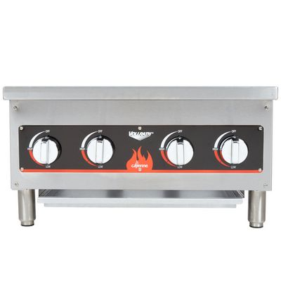 vollrath 40737 commercial gas hot plate front view