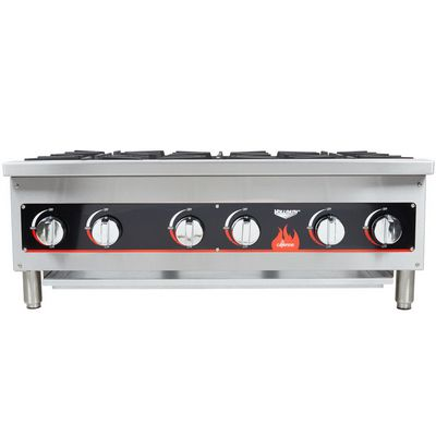 vollrath 40738 commercial gas hot plate front view