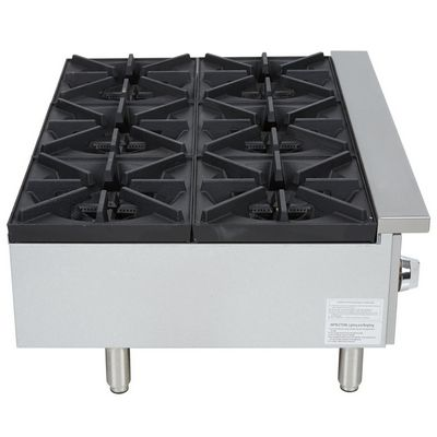 vollrath 40738 commercial gas hot plate side view