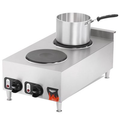 vollrath 40739 2 burner electric hot plate pot on top