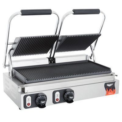 vollrath 40795 commercial grooved sandwich grill side view