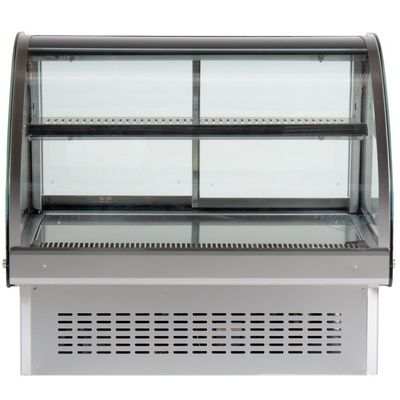 vollrath 40842 drop in display refrigerator curved front view