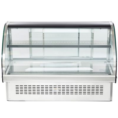 vollrath 40843 drop-in display refrigerator curved glass front view