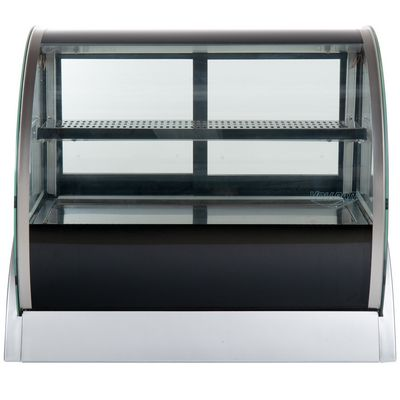vollrath 40852 countertop display refrigerator curved glass front view
