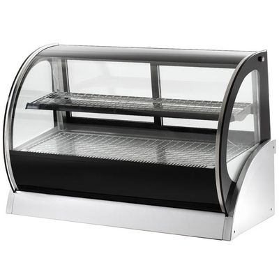 vollrath 40855 curved glass countertop heated display case right side view