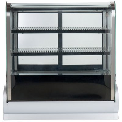 vollrath 40863 countertop display refrigerator curved glass front view