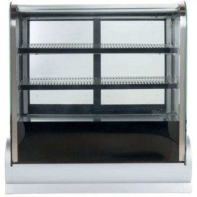vollrath 40864 countertop display refrigerator curved glass front view