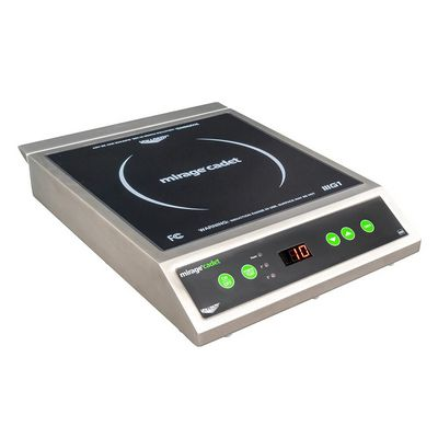 vollrath 59300 commercial countertop induction range left side view