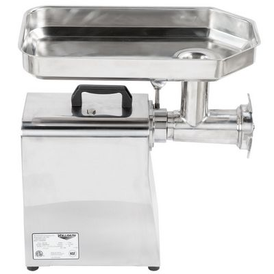 vollrath min0022 commercial meat grinder side view