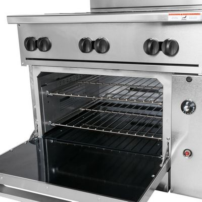 vulcan 36s-6bn commercial gas range with standard oven base oven