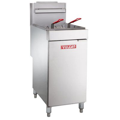 vulcan lg300 commercial gas fryer left side view