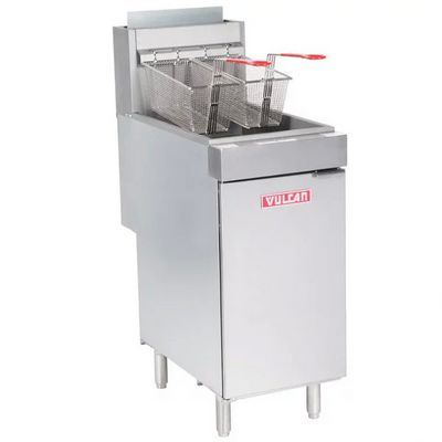vulcan lg400 commercial gas fryer left side view