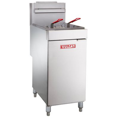 vulcan lg500 commercial gas fryer left side view
