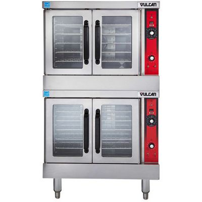 vulcan vc44e electric convection oven double front view