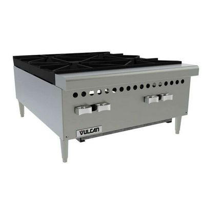 vulcan vcrh24 commercial gas hot plate left side view