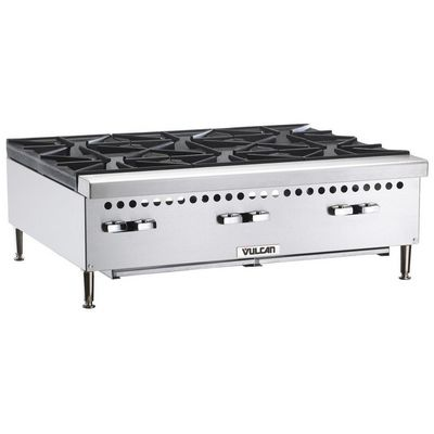 vulcan vcrh36 commercial gas hot plate left side view
