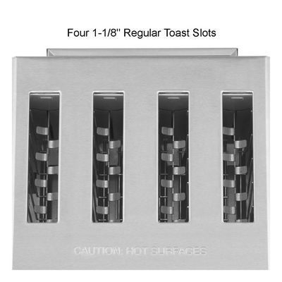 waring wct800rc commercial pop up toaster top view