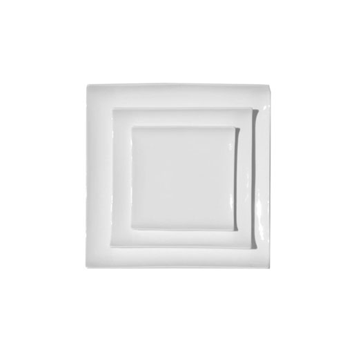 William BCMX.02.14 Fine Bone China Square Plate with Curled Edge - 5.5in