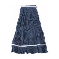 Winco MOP-32 Blue Yarn Mop Head with Looped End - 32oz