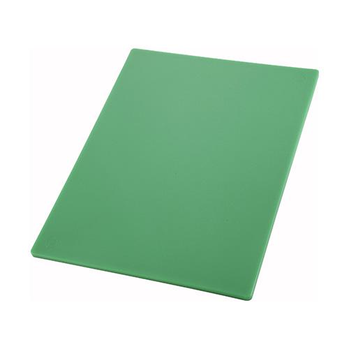 Winco CBGR-1218 Green Cutting Board - 12in x 18in
