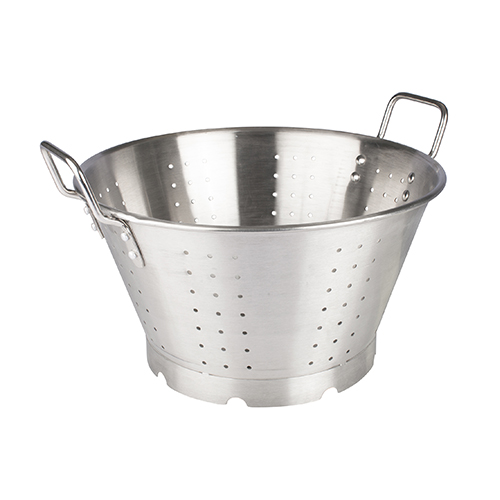 Winco SLO-16 Heavy-duty Stainless Steel Colander With Handles & Base - 16qt
