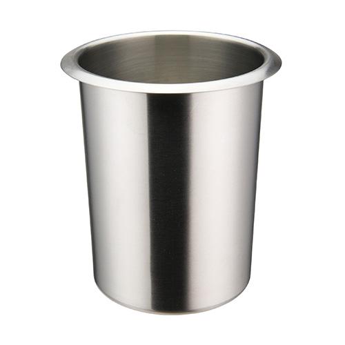 Winco BAMN-1.25 Mirror Finish Stainless Steel Bain Marie Pot - 1.25qt