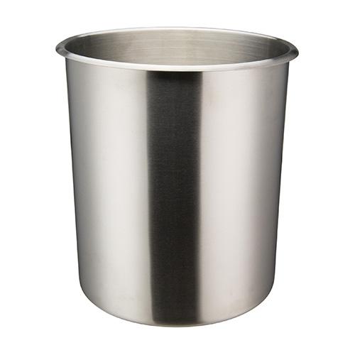 Winco BAMN-12 Mirror Finish Stainless Steel Bain Marie Pot - 12qt
