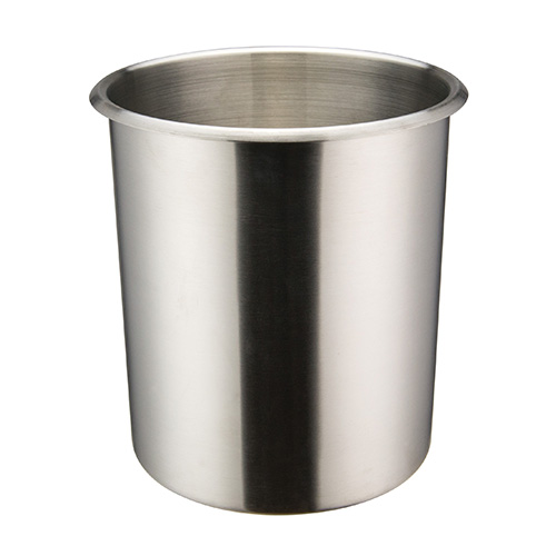 Winco BAMN-6 Mirror Finish Stainless Steel Bain Marie Pot - 6qt