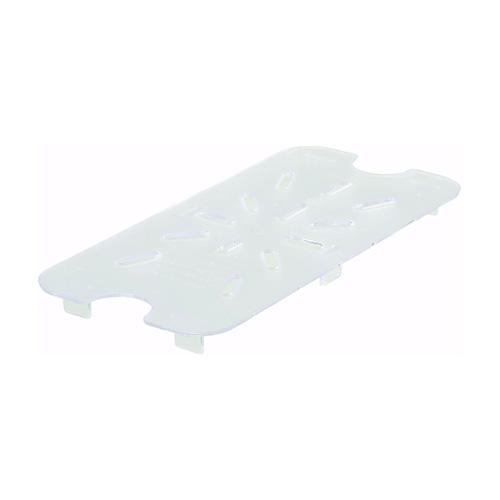Winco Polycarbonate Drain Shelf SP74DS - 1/4size