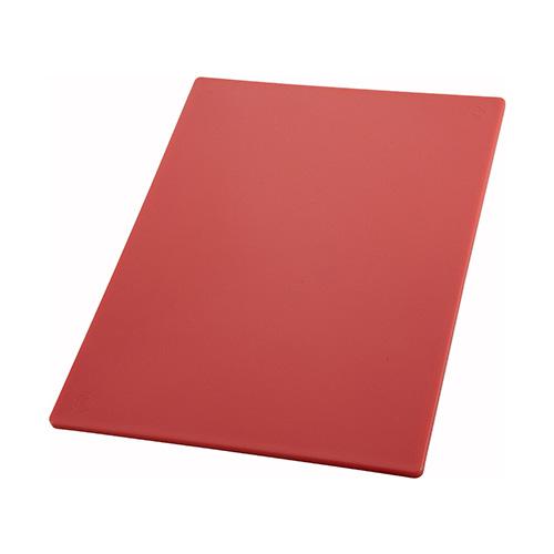 Winco CBRD-1218 Red Cutting Board - 12in x 18in