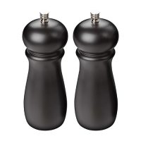 Winco SP-624 Rubberwood Manual Pepper Mills with 2 extra knobs - 2pcs/set