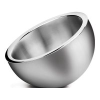 Winco DWAB-S Small Insulated Angled Stainless Steel Display Bowl - 1.5qt