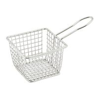 Winco FBM-443S Square Mini Fry Basket - 1ea