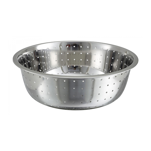 Winco CCOD-15L Stainless Steel Chinese Style Colanders - 15in