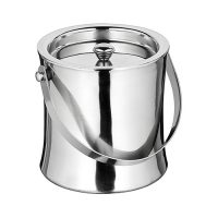Winco ICB-60 Stainless Steel Double-Wall Ice Bucket - 60oz