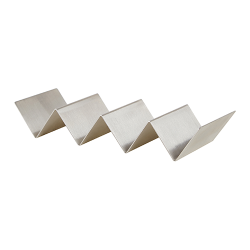 Winco TCHS-34 Stainless Steel Taco Holder - 3-4 Slots