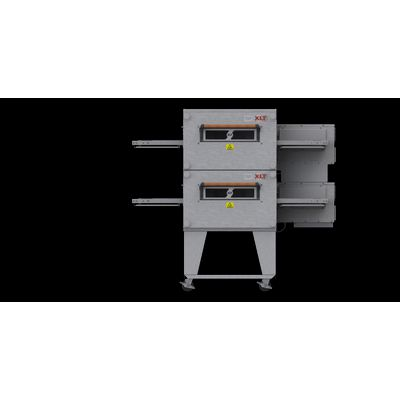 xlt xlt-1832-ts3 gas conveyor oven double front view