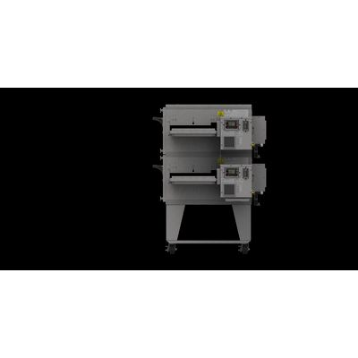 xlt xlt-1832-ts3 gas conveyor oven double right side view