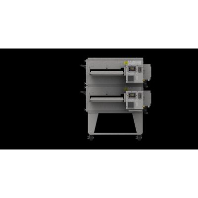 xlt xlt-2440-ts3 gas conveyor oven double right side view