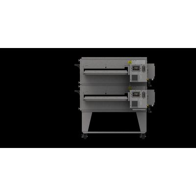 xlt xlt-3240-ts3 gas conveyor oven double right side view