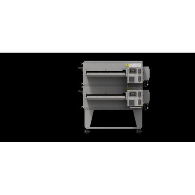 xlt xlt-3270 gas conveyor oven double right side view