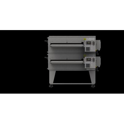 xlt xlt-3855 gas conveyor oven double right side view